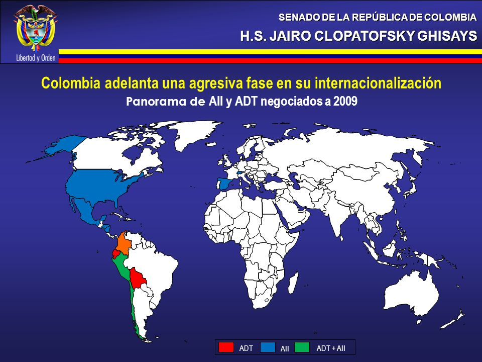 Panorama de AII y ADT negociados a 2009