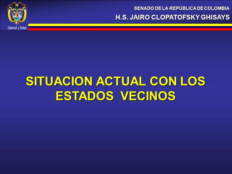 SITUACION ACTUAL CON LOS ESTADOS VECINOS