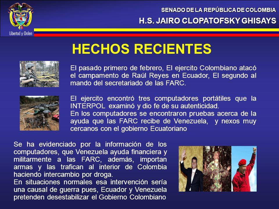 HECHOS RECIENTES H.S. JAIRO CLOPATOFSKY GHISAYS