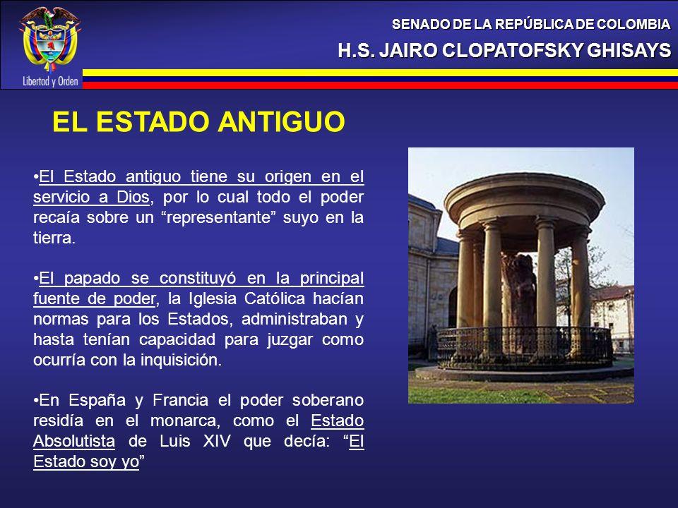 EL ESTADO ANTIGUO H.S. JAIRO CLOPATOFSKY GHISAYS
