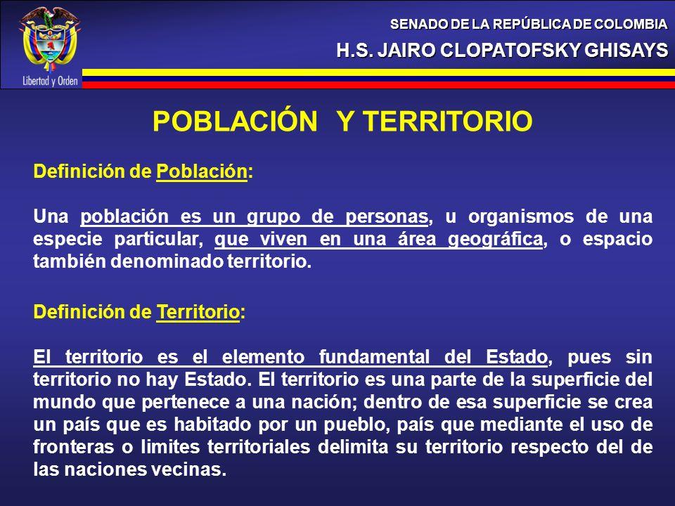 POBLACIÓN Y TERRITORIO
