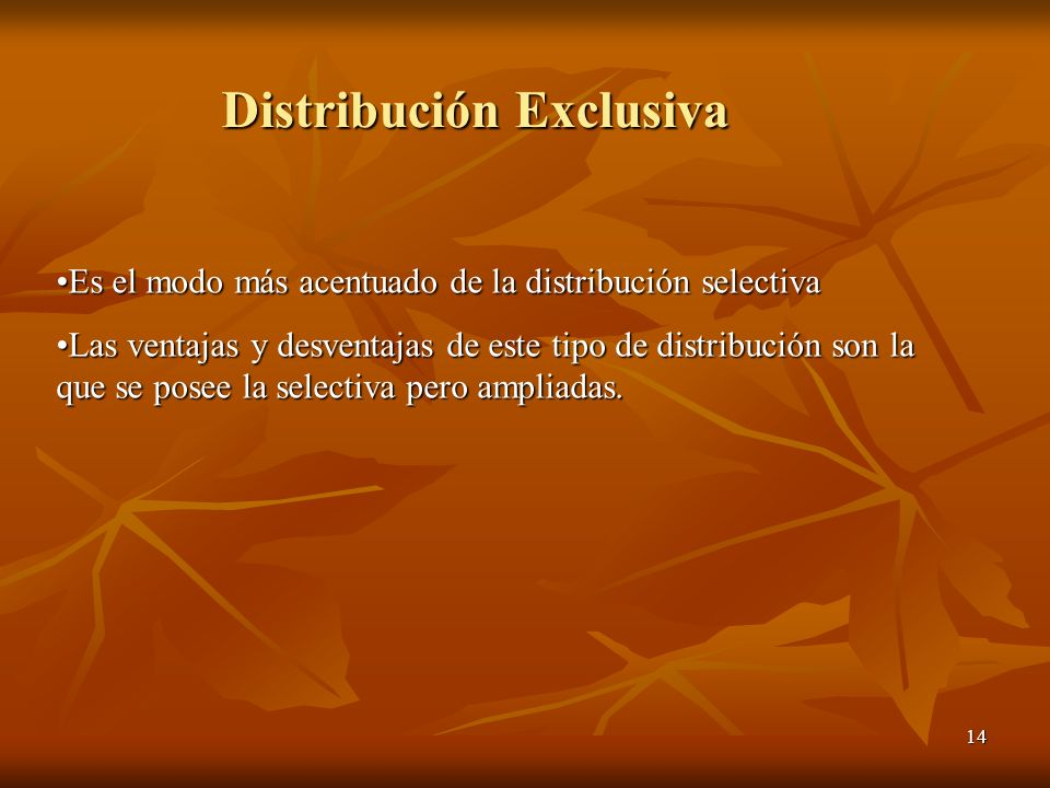 Distribución Exclusiva