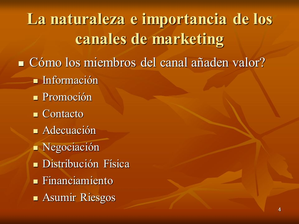 La naturaleza e importancia de los canales de marketing