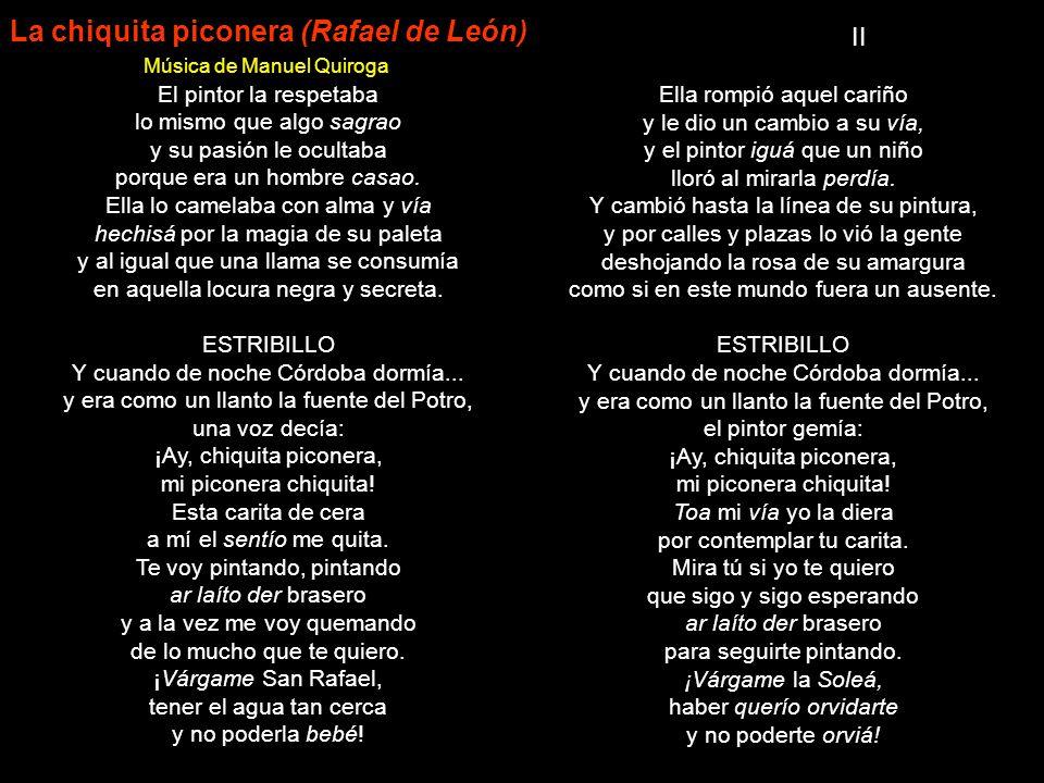 La chiquita piconera (Rafael de León)