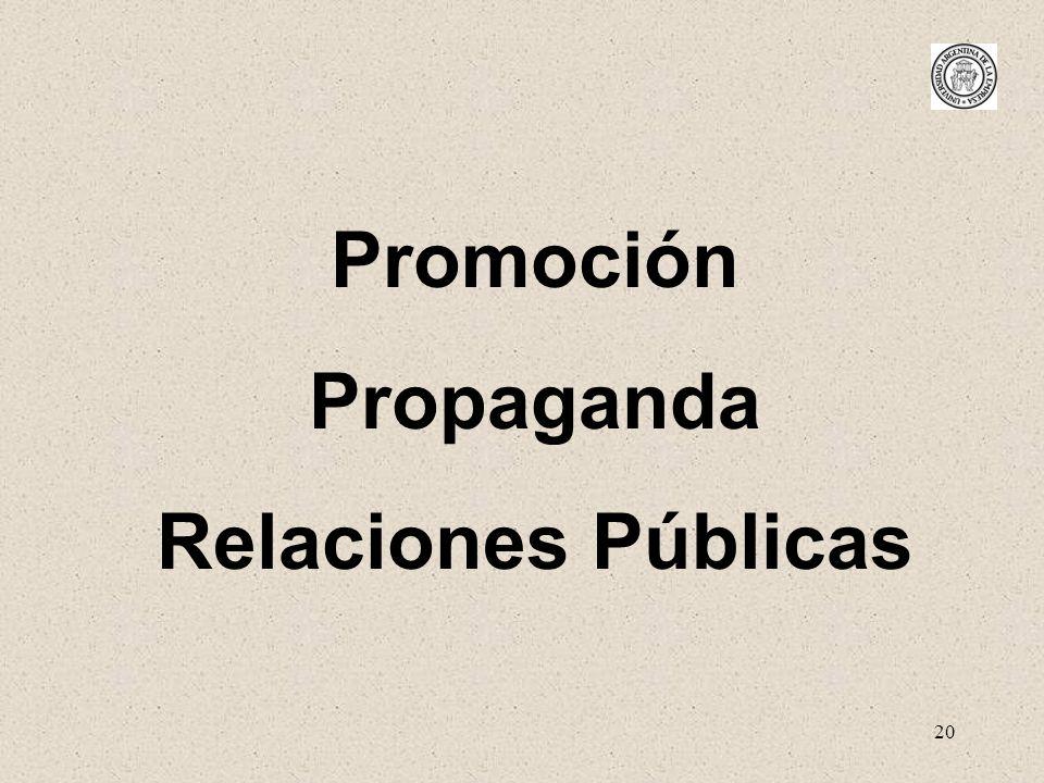 Promoción Propaganda Relaciones Públicas