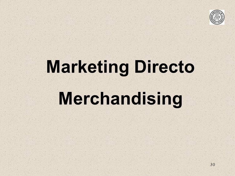 Marketing Directo Merchandising