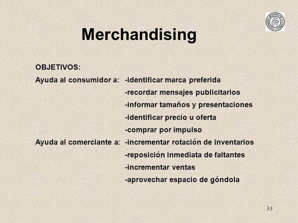 Merchandising OBJETIVOS: