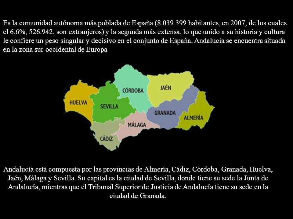 Es la comunidad autónoma más poblada de España (8. 039