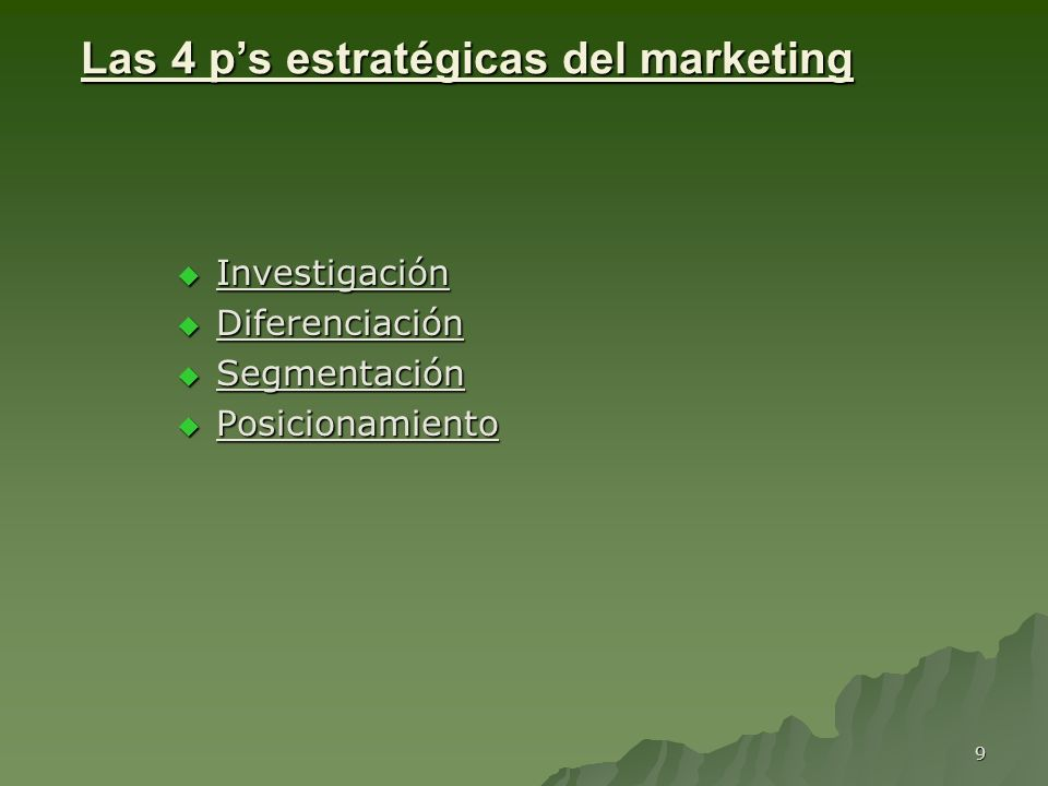 Las 4 p's estratégicas del marketing