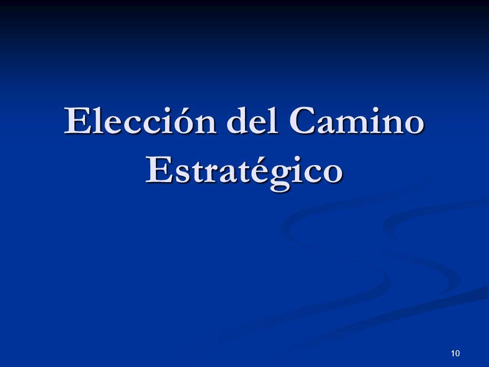 Elección del Camino Estratégico