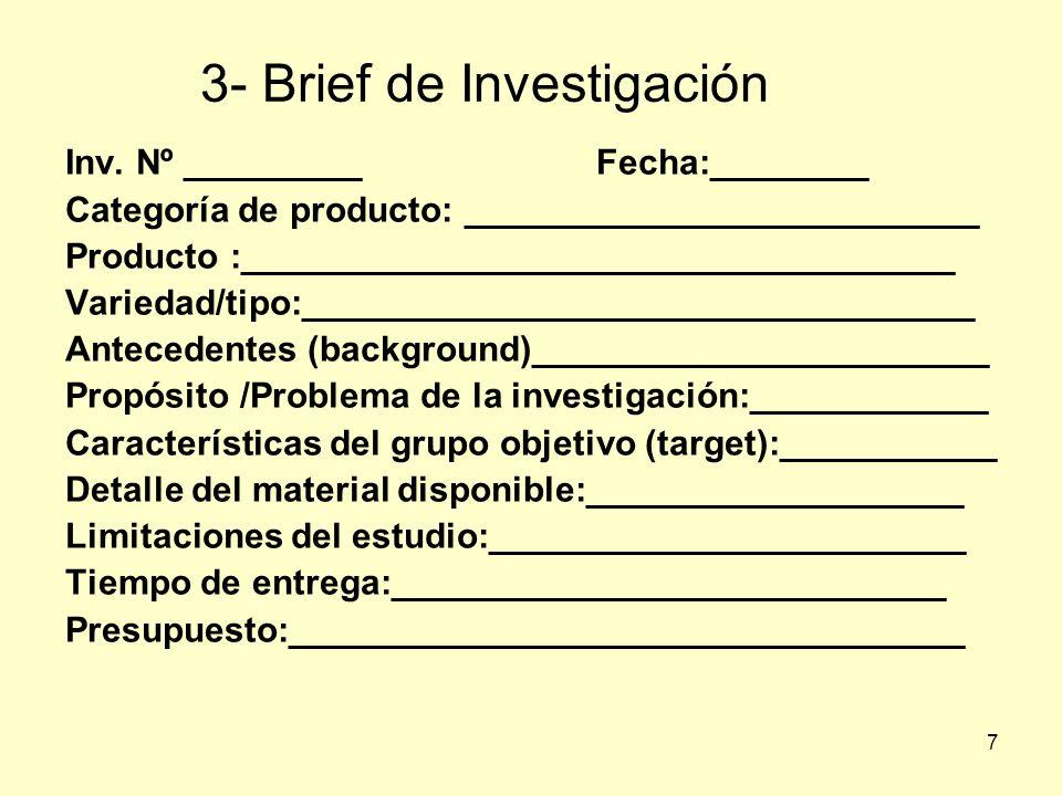 3- Brief de Investigación
