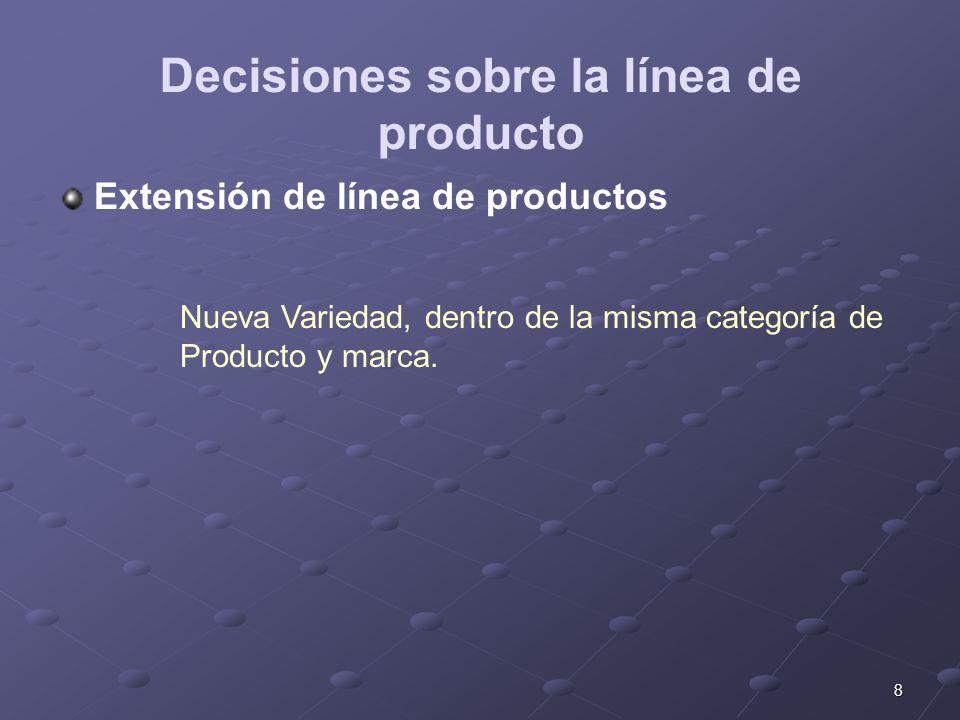 Decisiones sobre la línea de producto