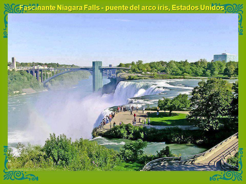 Fascinante Niagara Falls - puente del arco iris, Estados Unidos