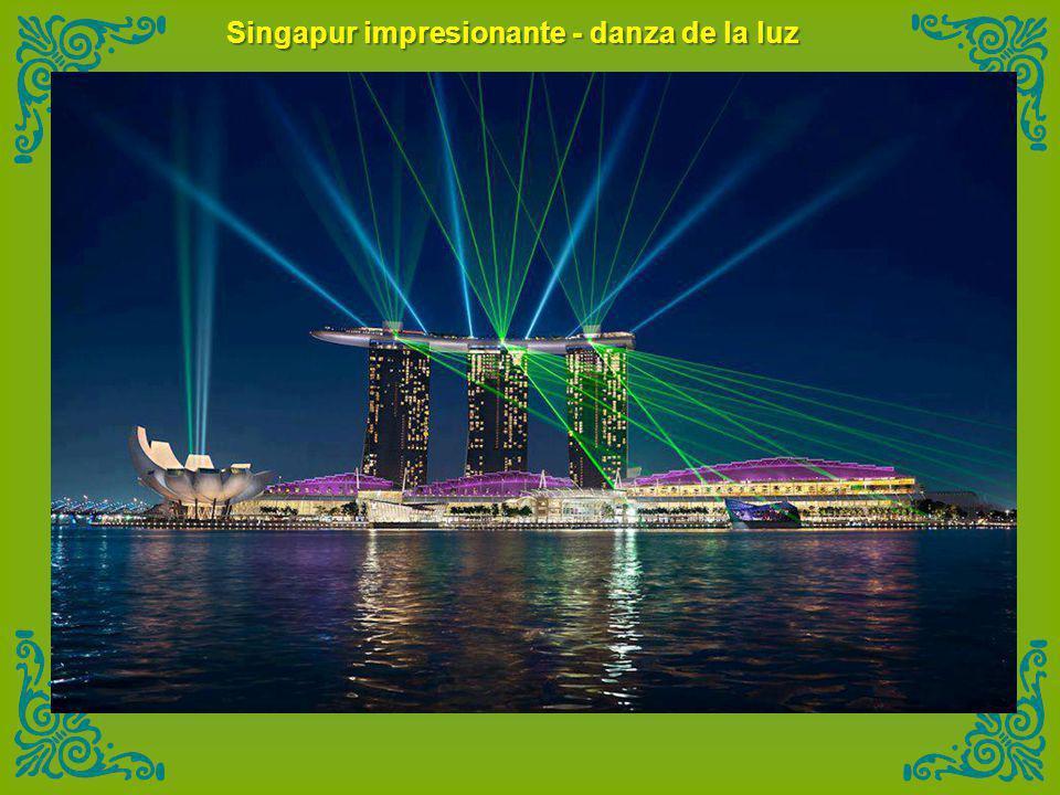 Singapur impresionante - danza de la luz