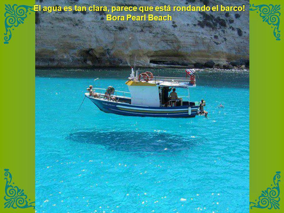 El agua es tan clara, parece que está rondando el barco