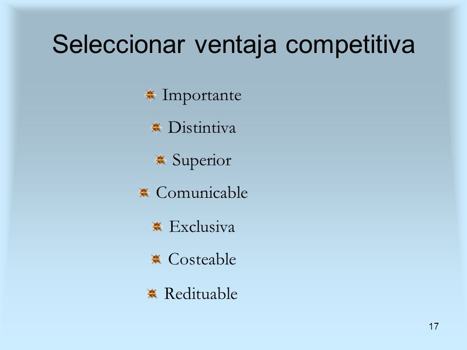 Seleccionar ventaja competitiva