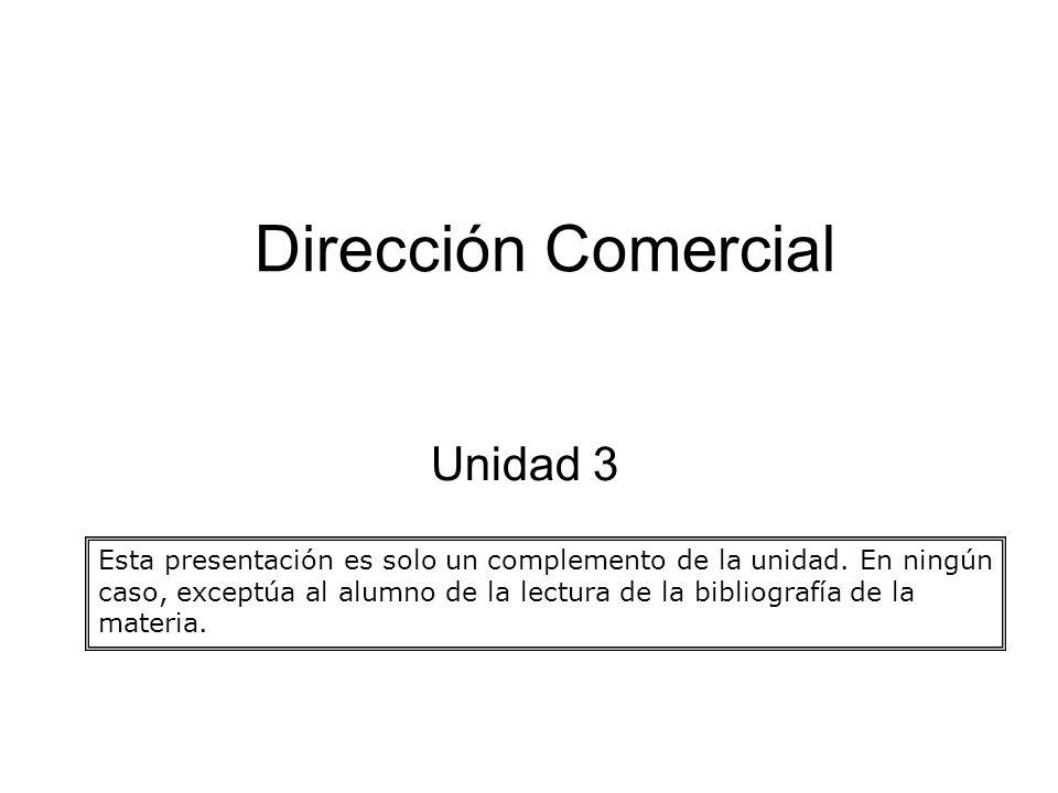 Dirección Comercial Unidad 3