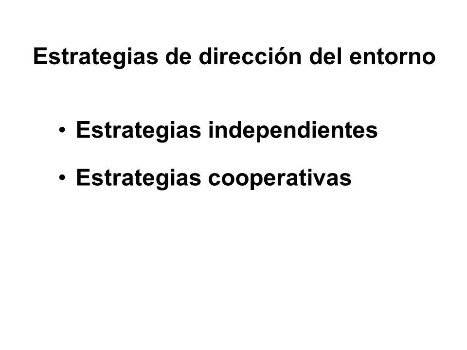 Estrategias de dirección del entorno