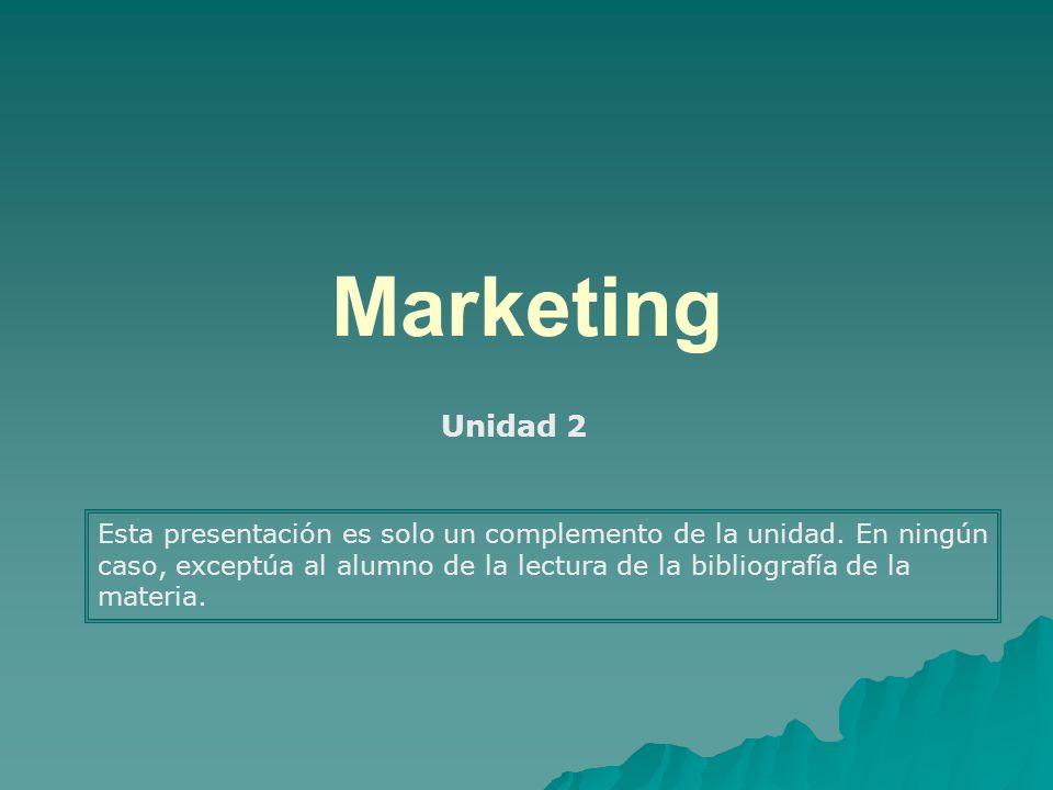 Marketing Unidad 2.