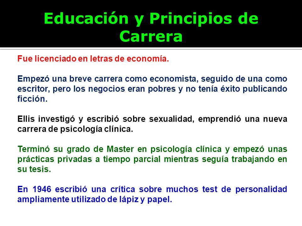 Educación y Principios de Carrera