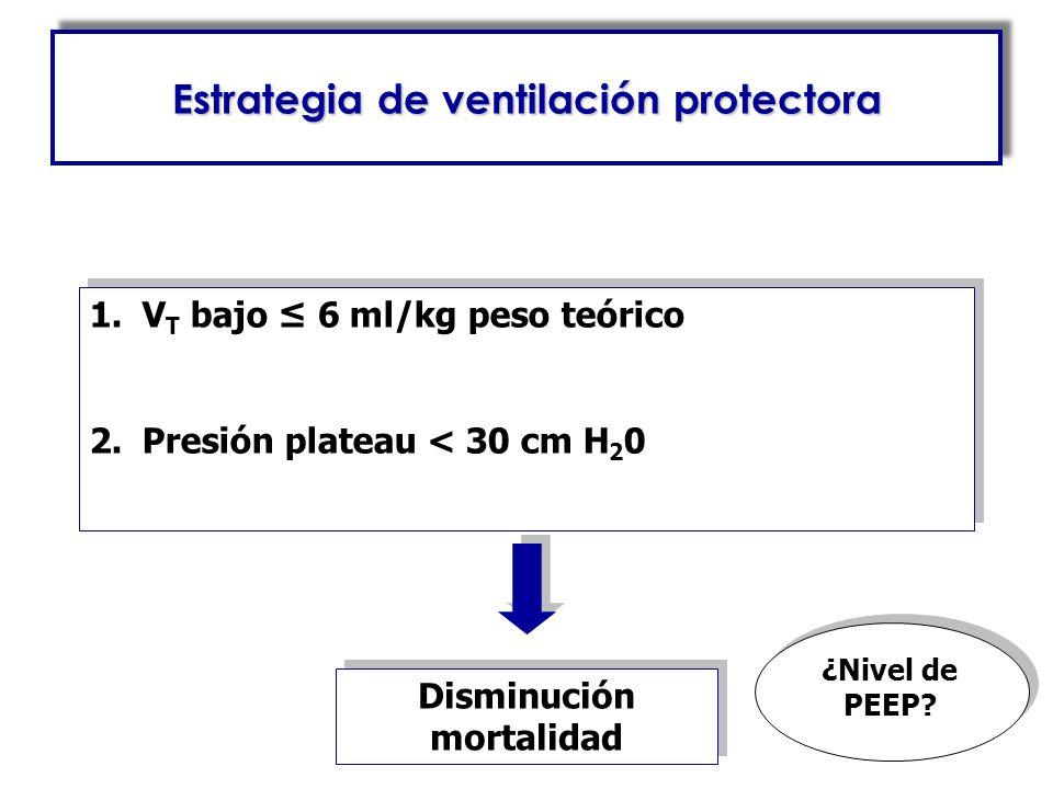 Estrategia de ventilación protectora