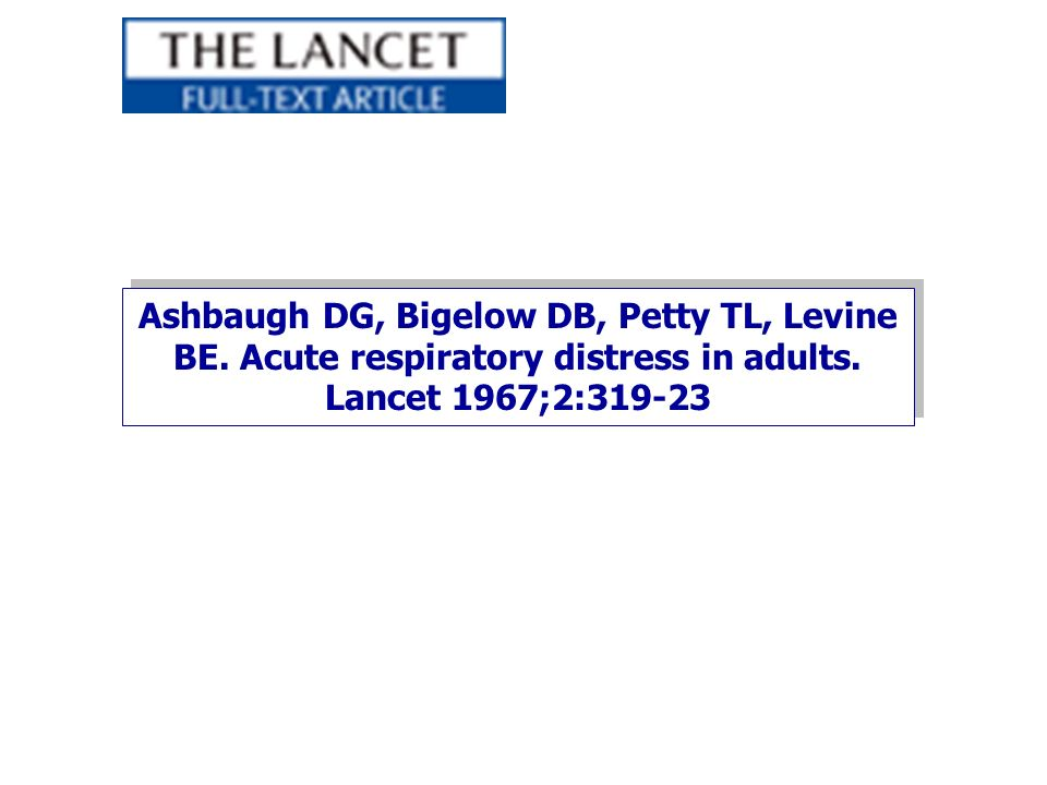 Ashbaugh DG, Bigelow DB, Petty TL, Levine BE