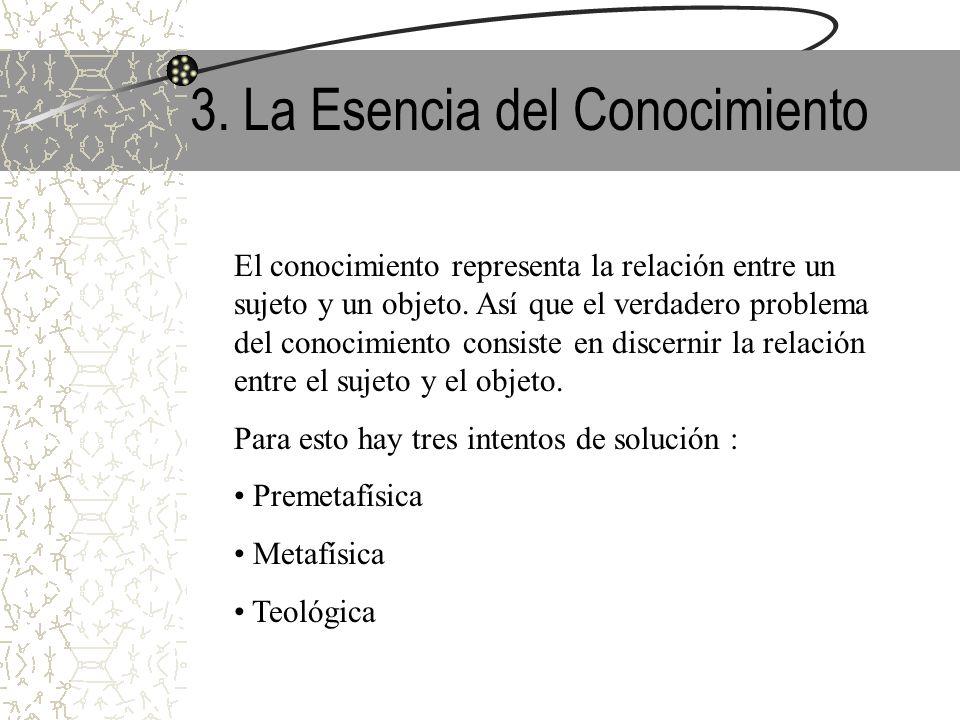 3. La Esencia del Conocimiento