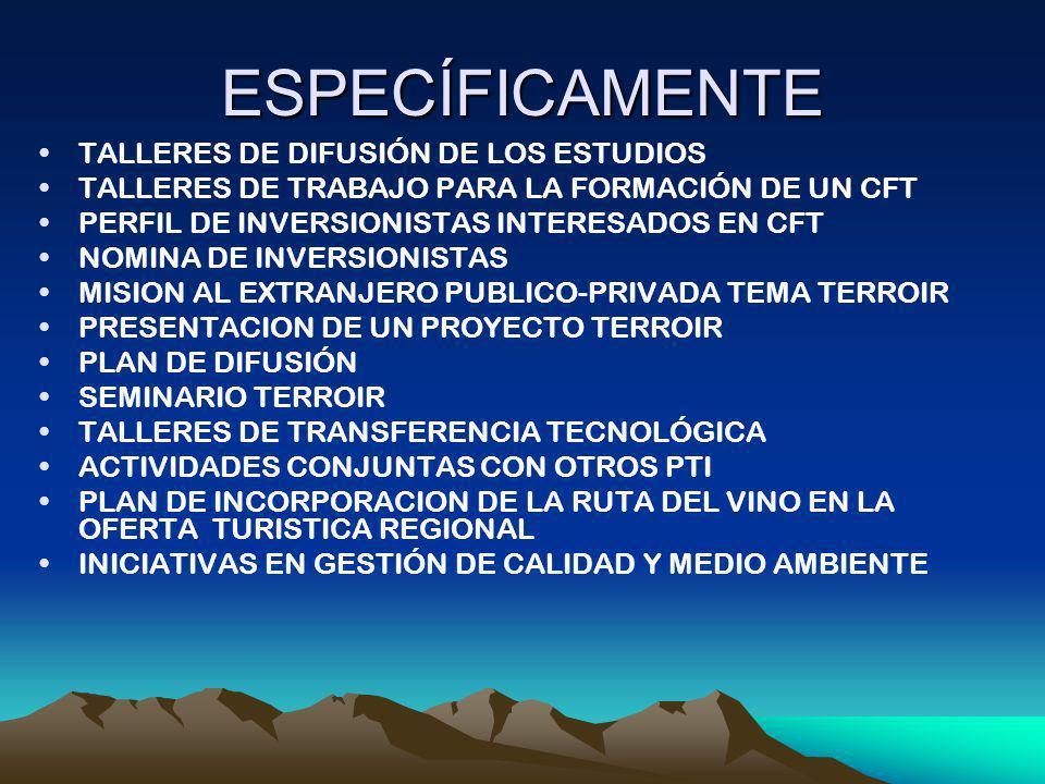 ESPECÍFICAMENTE TALLERES DE DIFUSIÓN DE LOS ESTUDIOS
