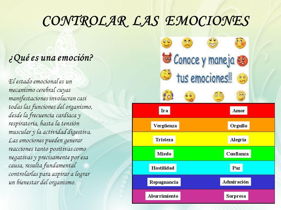 CONTROLAR LAS EMOCIONES