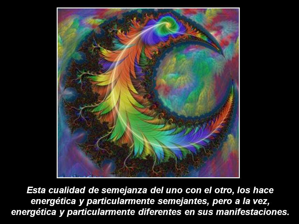 Esta cualidad de semejanza del uno con el otro, los hace energética y particularmente semejantes, pero a la vez, energética y particularmente diferentes en sus manifestaciones.