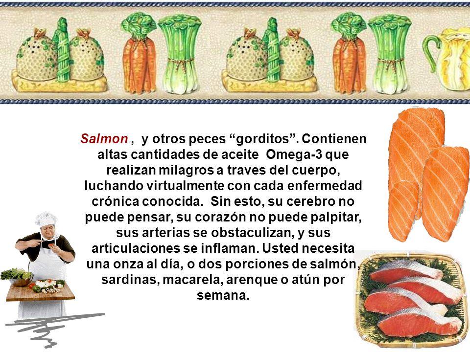 Salmon , y otros peces gorditos