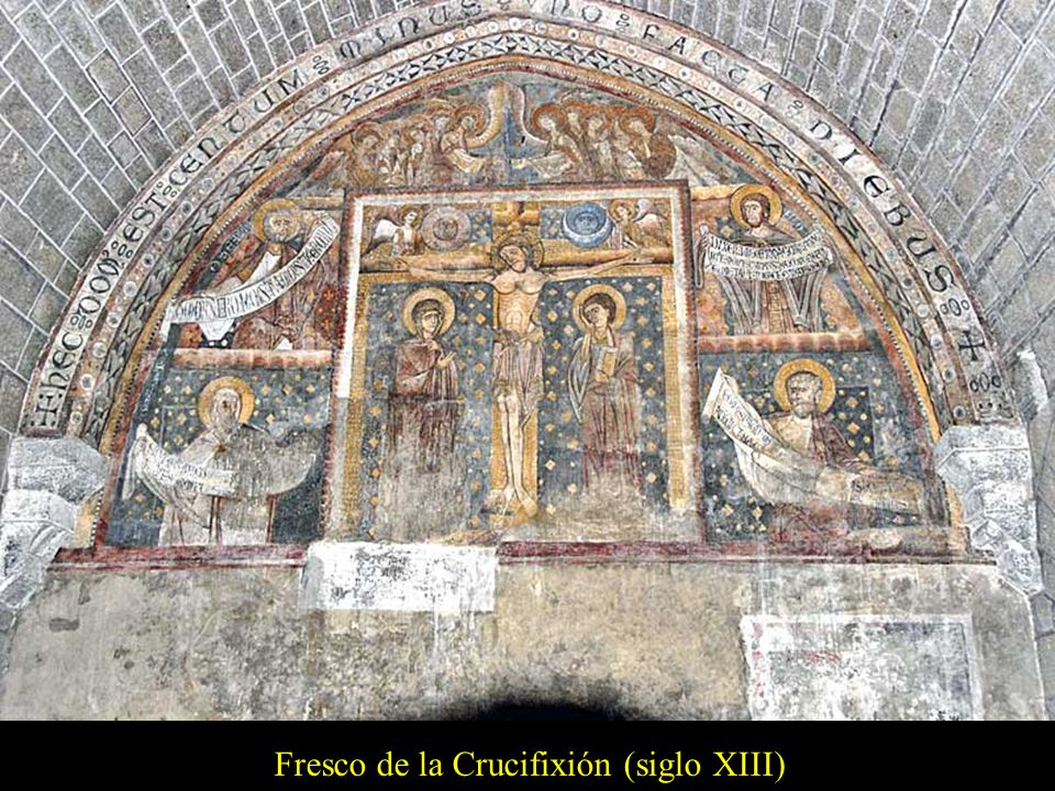 Fresco de la Crucifixión (siglo XIII)
