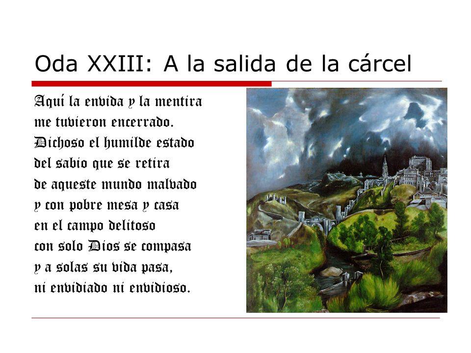 Oda XXIII: A la salida de la cárcel