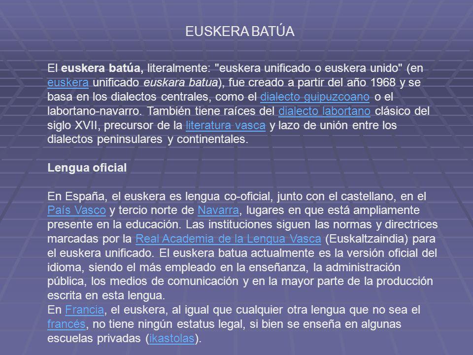 EUSKERA BATÚA