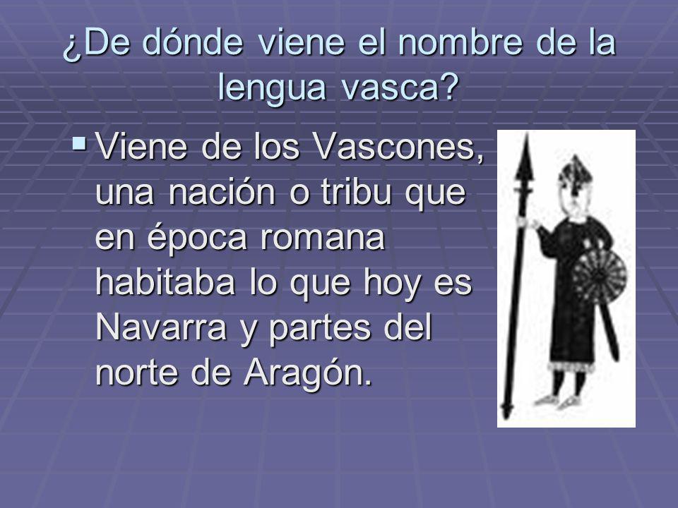 ¿De dónde viene el nombre de la lengua vasca