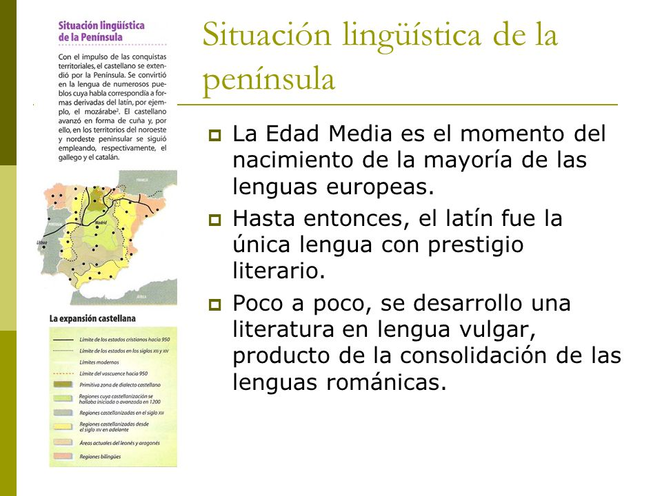 Situación lingüística de la península