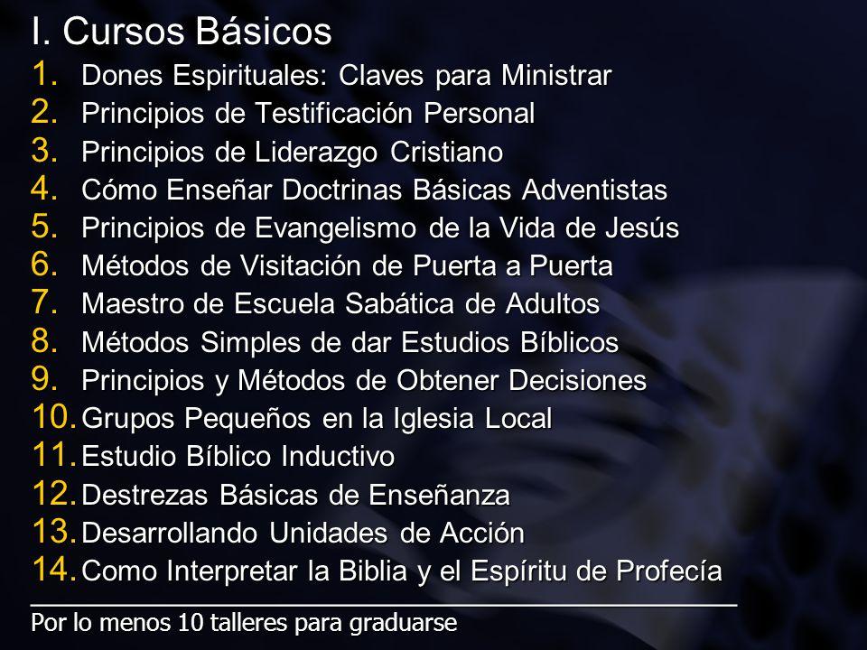I. Cursos Básicos Dones Espirituales: Claves para Ministrar