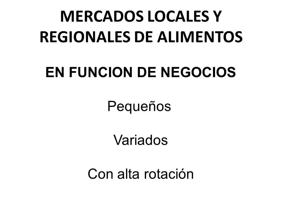 MERCADOS LOCALES Y REGIONALES DE ALIMENTOS