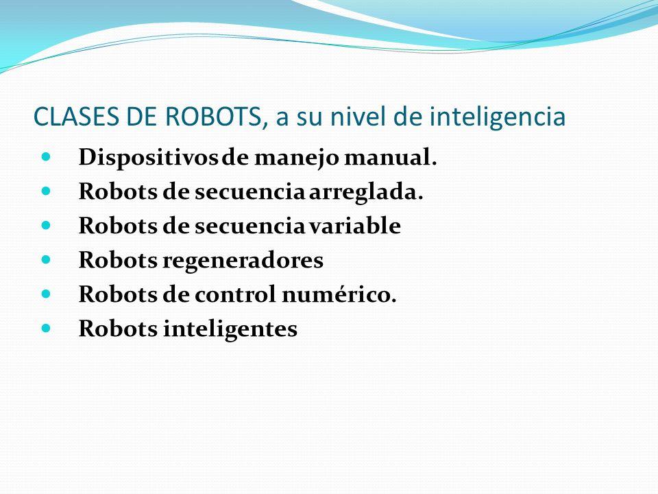 CLASES DE ROBOTS, a su nivel de inteligencia