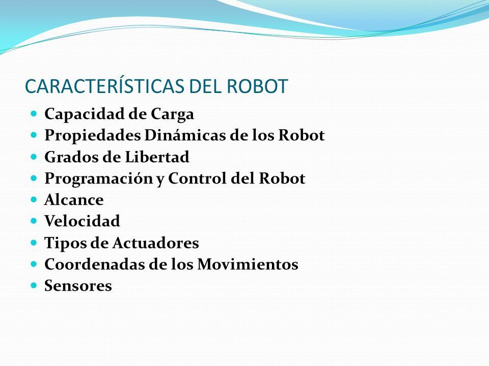 CARACTERÍSTICAS DEL ROBOT