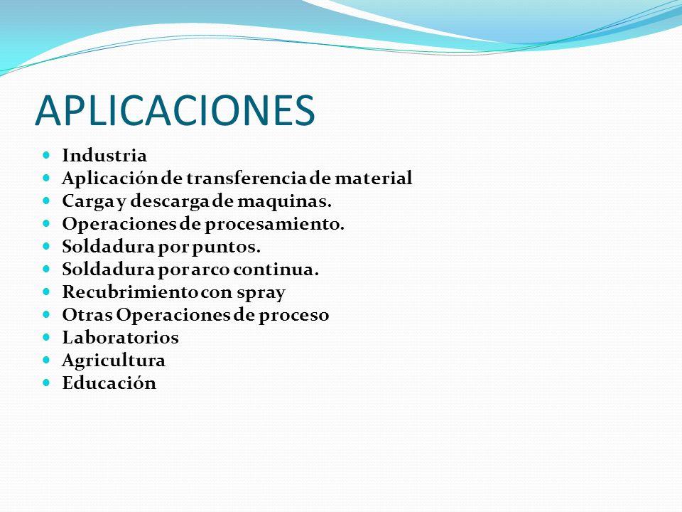 APLICACIONES Industria Aplicación de transferencia de material