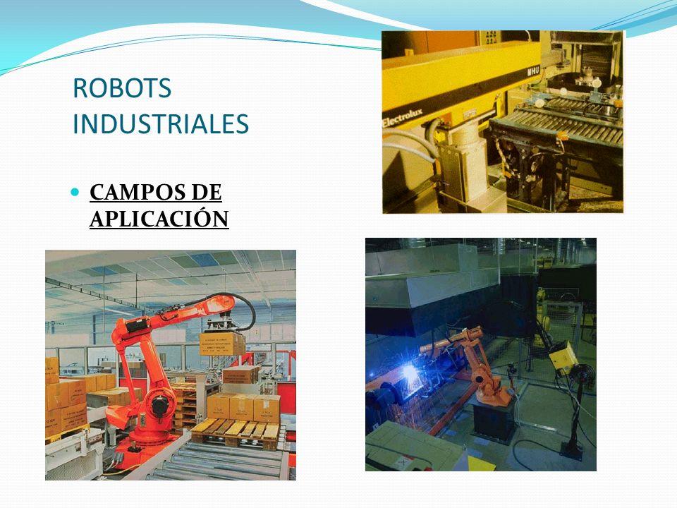 ROBOTS INDUSTRIALES CAMPOS DE APLICACIÓN