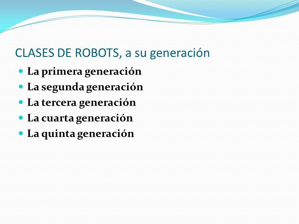 CLASES DE ROBOTS, a su generación