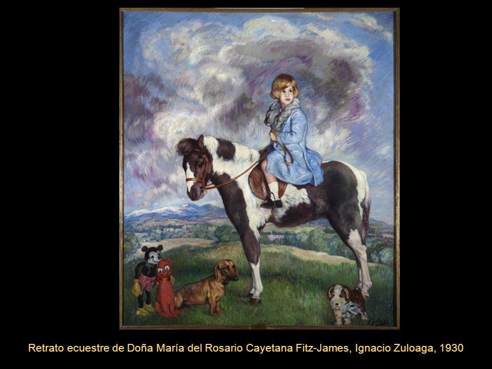 Retrato ecuestre de Doña María del Rosario Cayetana Fitz-James, Ignacio Zuloaga, 1930