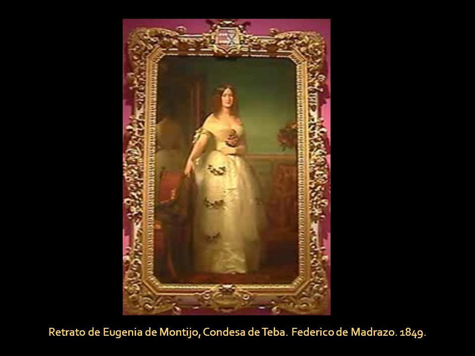 Retrato de Eugenia de Montijo, Condesa de Teba. Federico de Madrazo