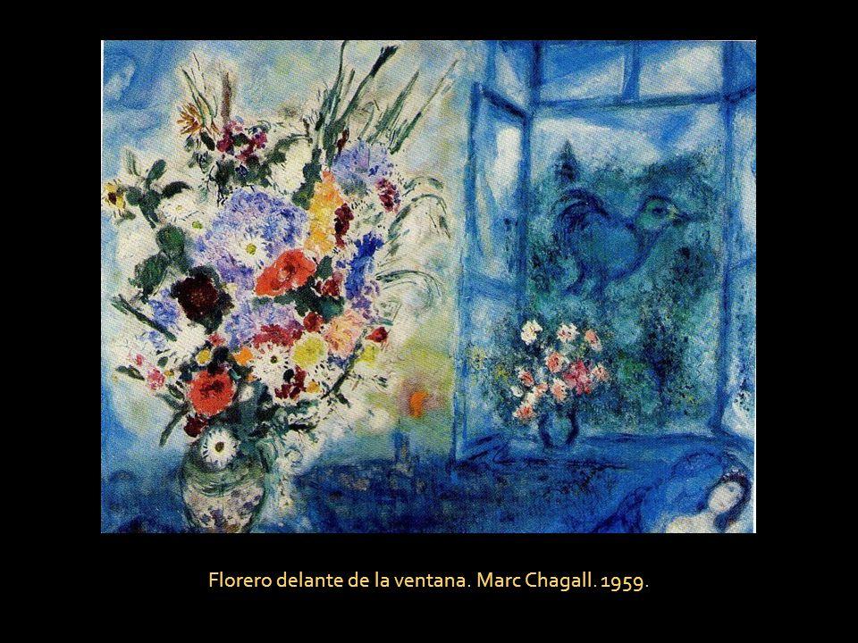 Florero delante de la ventana. Marc Chagall. 1959.