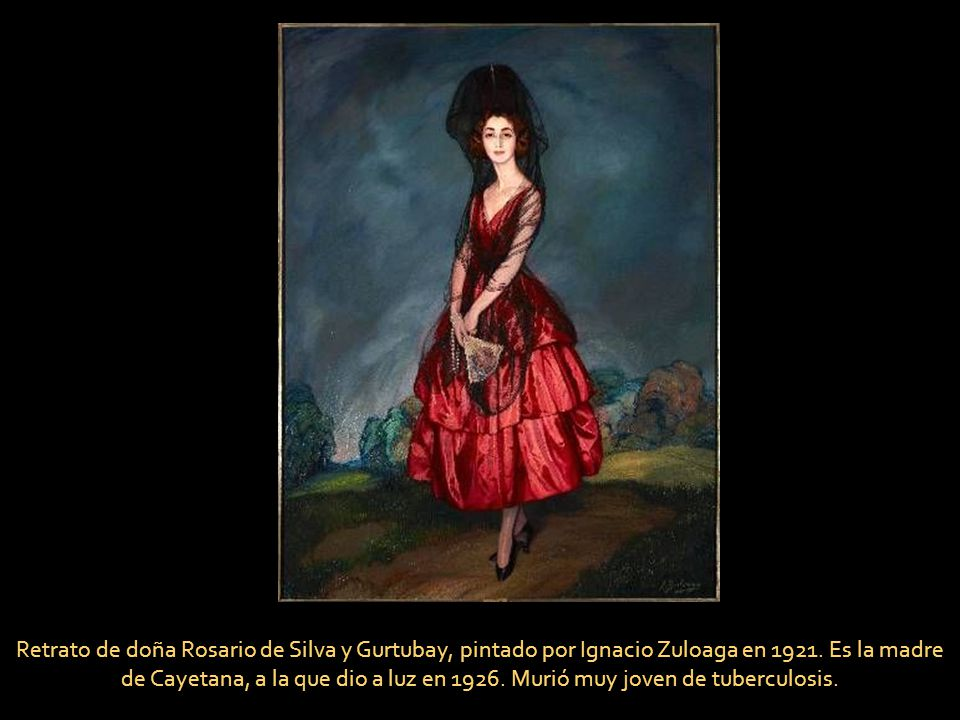 Retrato de doña Rosario de Silva y Gurtubay, pintado por Ignacio Zuloaga en 1921.