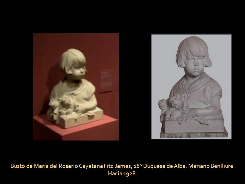 Busto de María del Rosario Cayetana Fitz. James, 18ª Duquesa de Alba