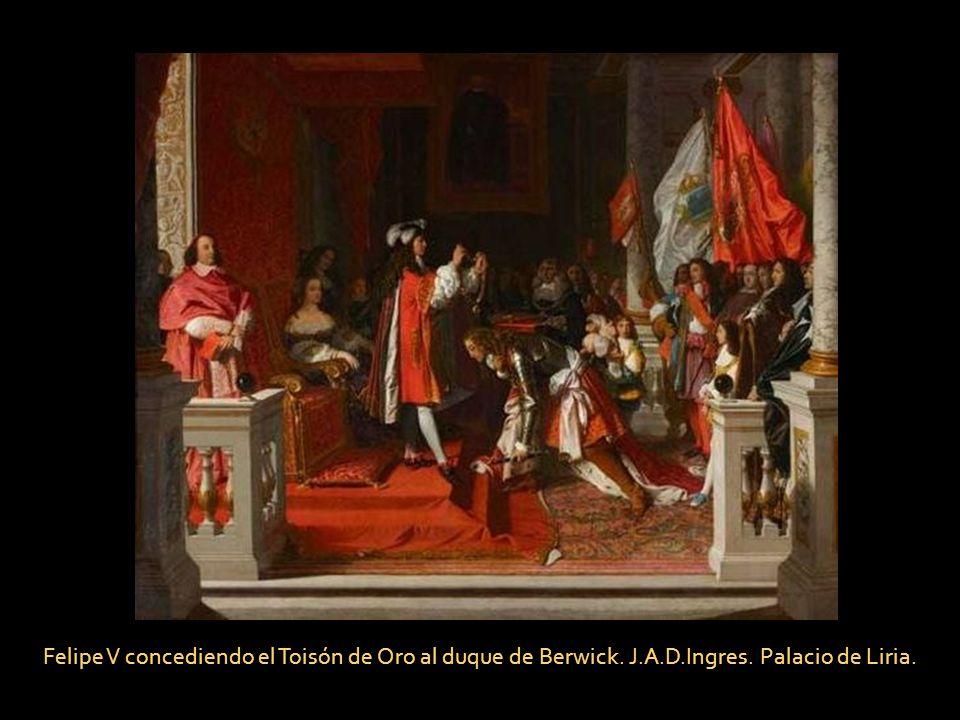 Felipe V concediendo el Toisón de Oro al duque de Berwick. J. A. D
