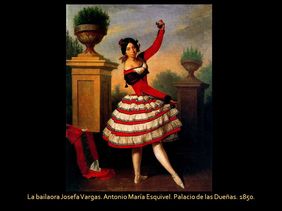La bailaora Josefa Vargas. Antonio María Esquivel